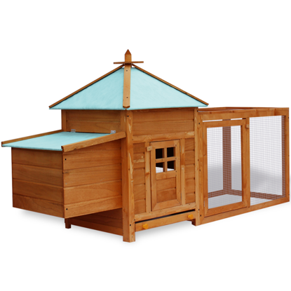 "Picture of Outdoor 75"" Deluxe Wooden Chicken Coop"