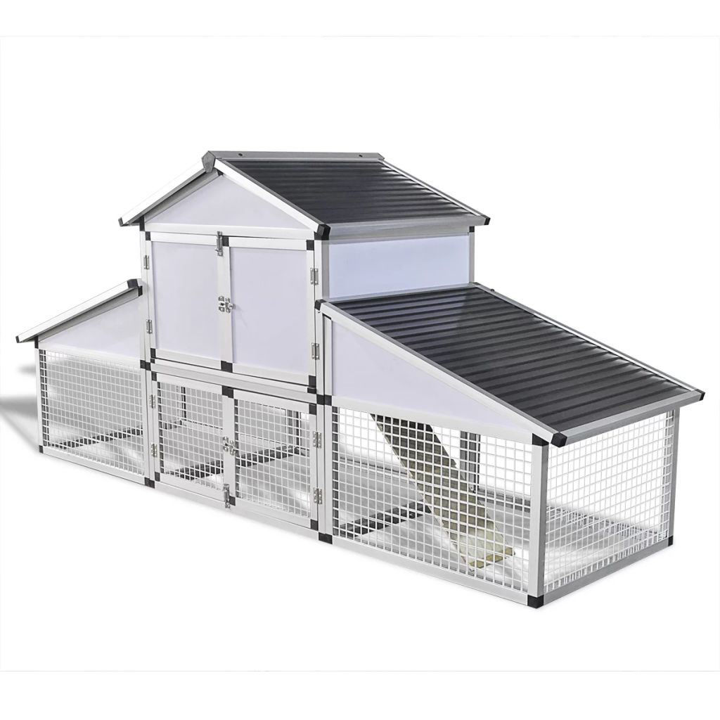 Picture of Outdoor Aluminum Chicken Coop with Runs and 1 Nest Box