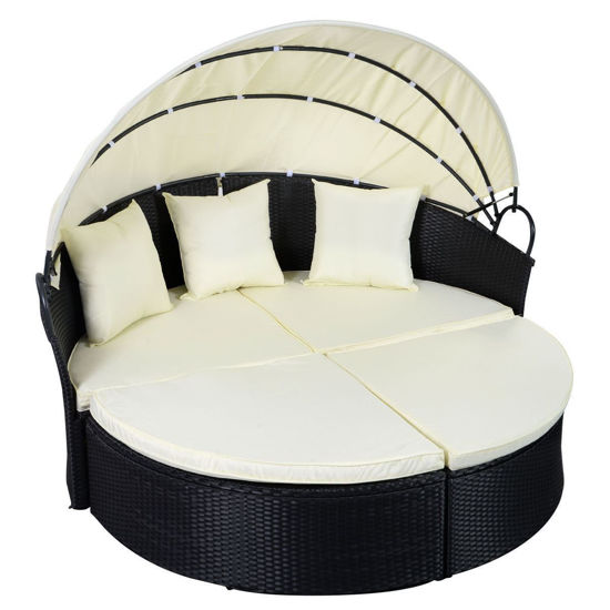 Picture of Outdoor Daybed Round Sofa - Black