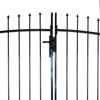 Picture of Outdoor Fence Double Door Gate with Spear Top 13' x 5'