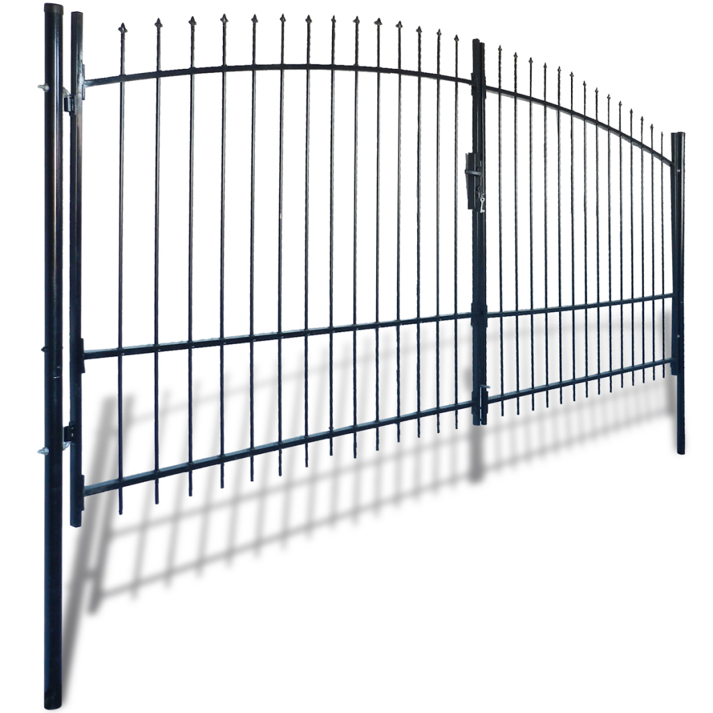 Picture of Outdoor Fence Double Door Gate with Spear Top 13' x 7'
