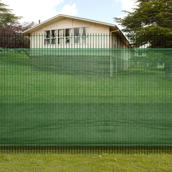 "Picture of Outdoor Fence Windscreen-Privacy Mesh Screen/Net-Green - 4' 9"" x 16' 4"""