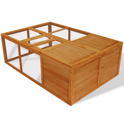 "Picture of Outdoor Foldable 59"" Wooden Chicken Coop"