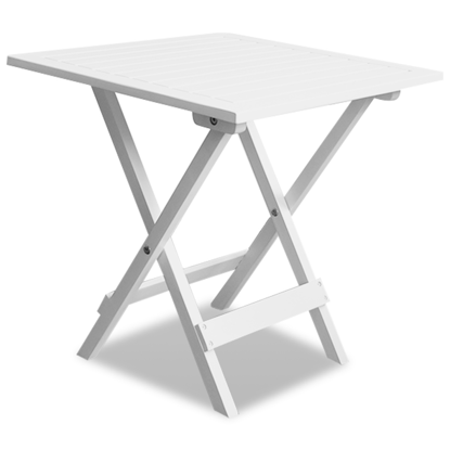 Picture of Outdoor Folding Square Coffee / Side Table Acacia Wood - White