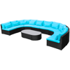 Picture of Outdoor Furniture Sofa Seating Set Poly Rattan - Tropical Blue