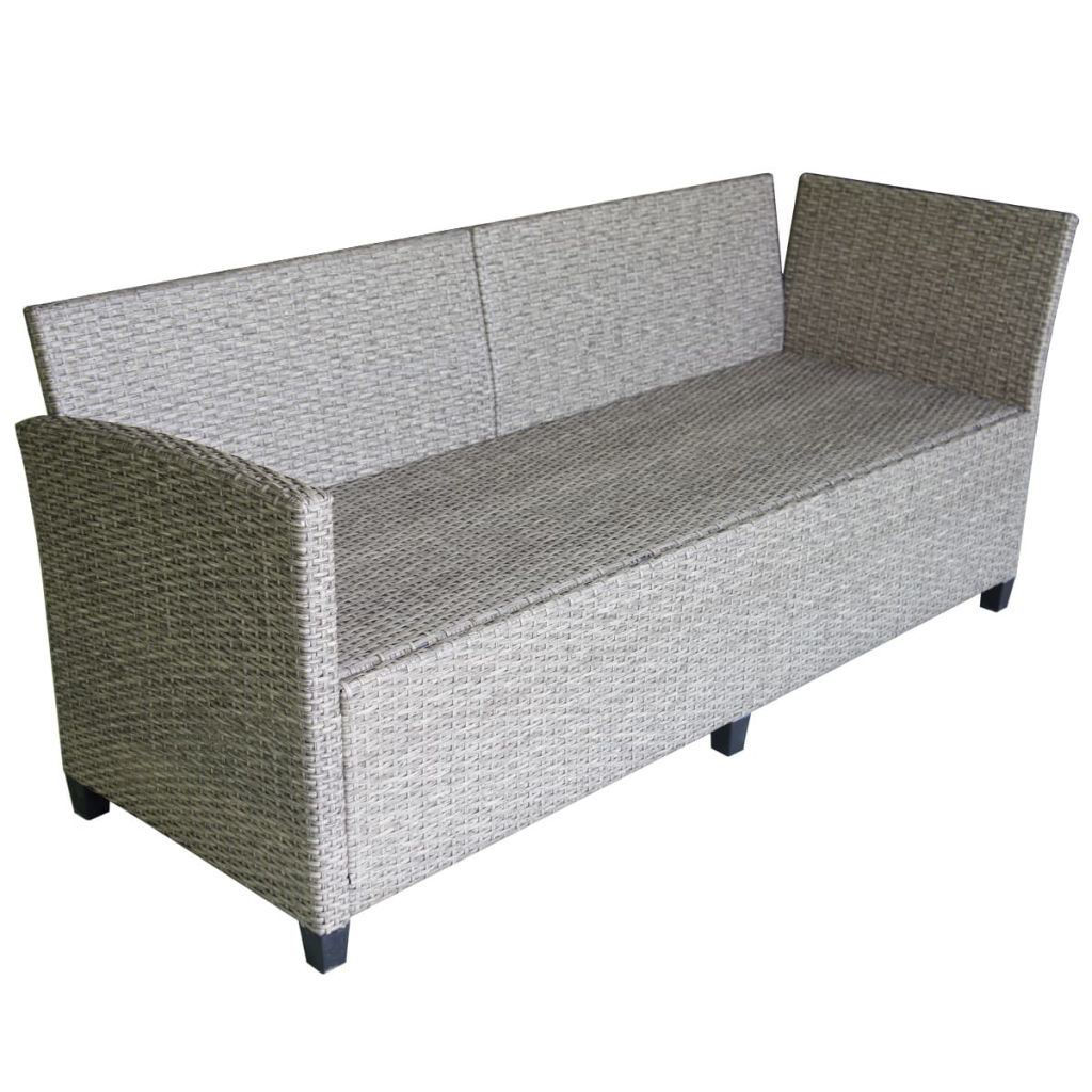 Picture of Outdoor Garden Corner Sofa Set - Poly Rattan - Gray