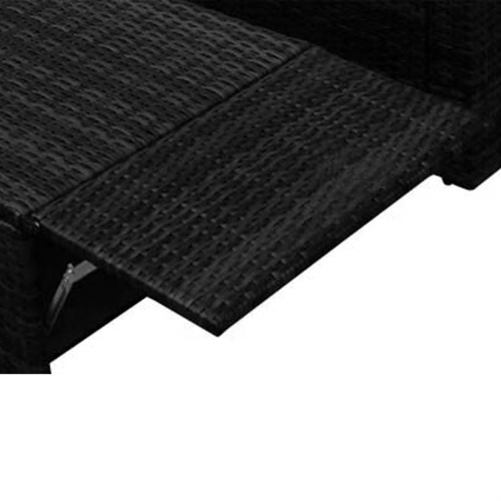 Picture of Outdoor Garden Sofa Set - Poly Rattan - Black