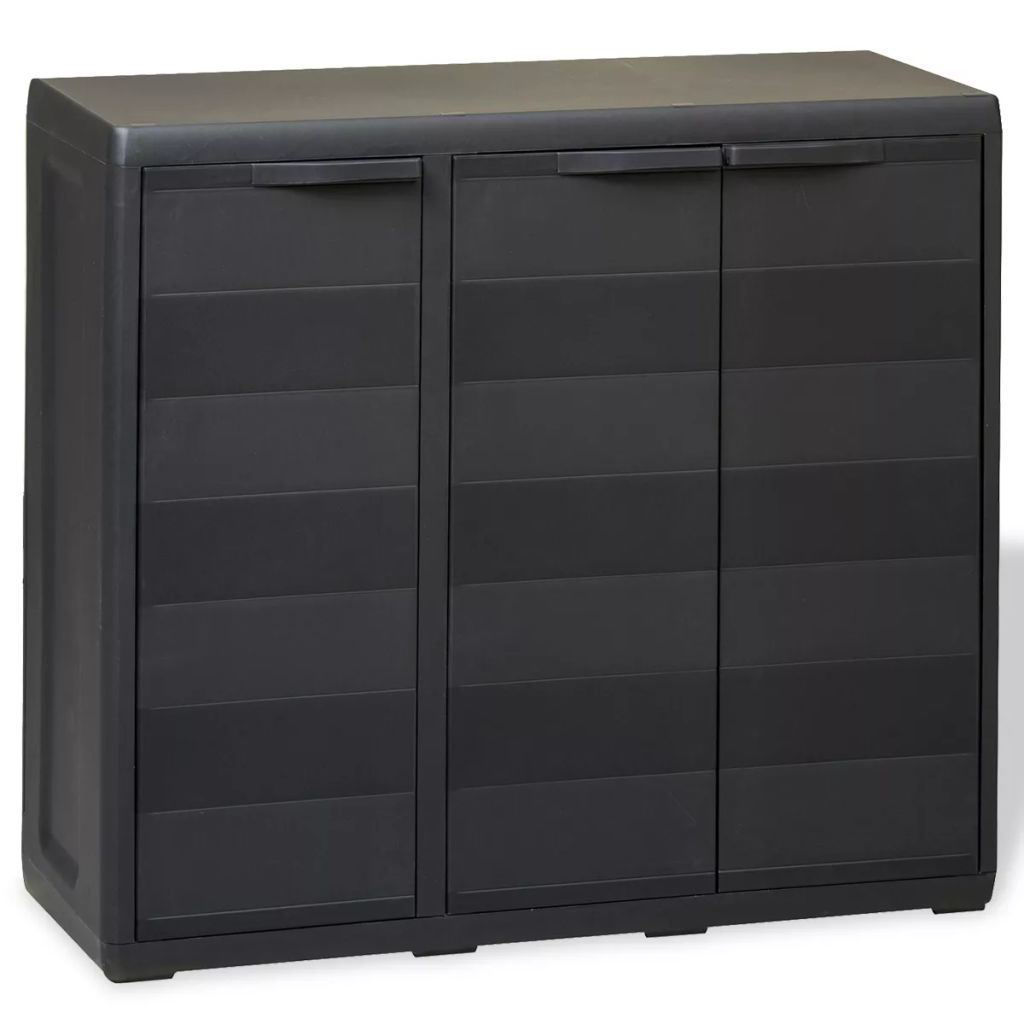 Picture of Outdoor Garden Storage Cabinet with 2 Shelves - Black