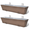 "Picture of Outdoor Hanging Rattan Planter Set 30""- 2 pcs Brown"