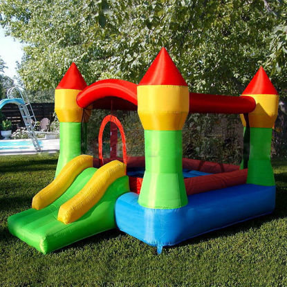 Picture of Outdoor Inflatable Mighty Moonwalk Bouncer Bounce House Castle Jumper Without Blower