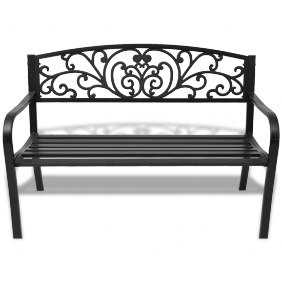 Picture of Outdoor Patio Bench Cast Iron - Black
