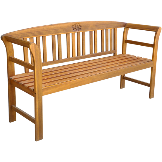 Picture of Outdoor Patio Rose Garden Bench - Acacia Wood