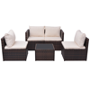Picture of Outdoor Patio Sofa Set Poly Rattan - 13 pcs Brown