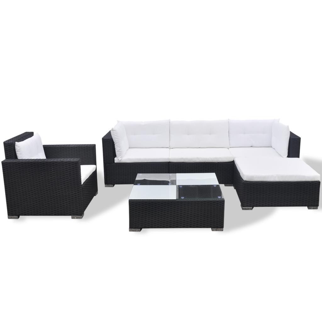 Picture of Outdoor Poly Rattan Garden Sofa Set  - Black 17 Piece