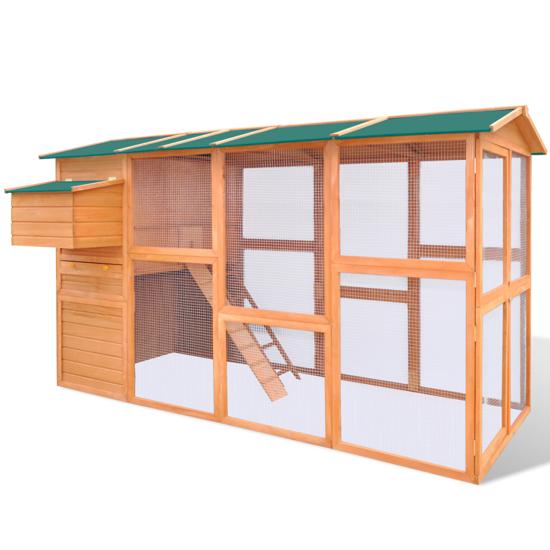 """Picture of Outdoor Wooden 114"""" Chicken Coop"""
