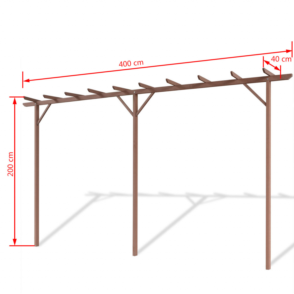 """Picture of Outdoor WPC Pergola 157""""x15""""x78"""" - Brown"""