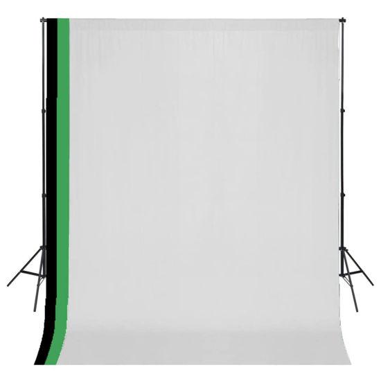Picture of Photo Studio Kit 3 Cotton Backdrops Adjustable Frame 10x10 ft