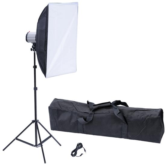 "Picture of Photography Photo Studio: Studio Flash Light 120 W/s with Softbox 20"" x 28"" & Tripod"