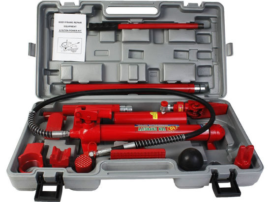 Picture of Power Hydraulic Jack Body Frame Repair Kit Tool Auto Shop 10 Ton Porta