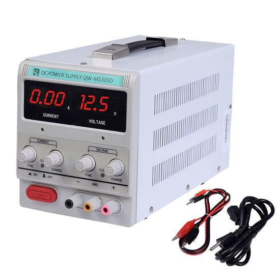 Picture of Power Supply 30V 5A 110V Precision Variable DC Digital Lab with clip Adjustable