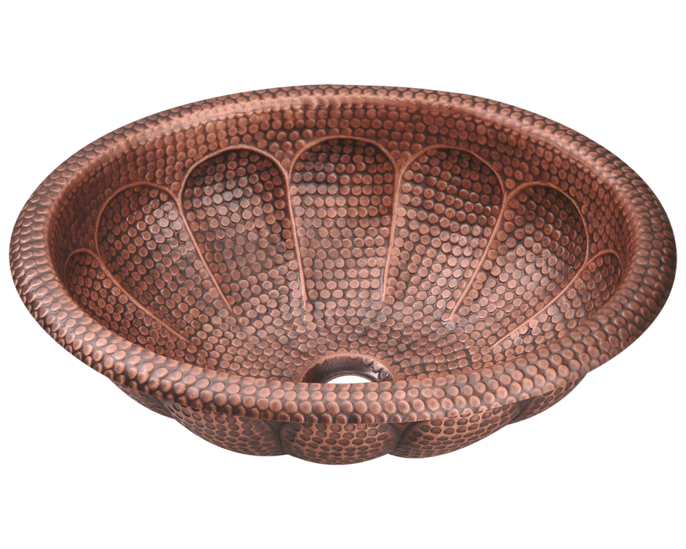 Picture of Single Bowl Oval Copper Sink