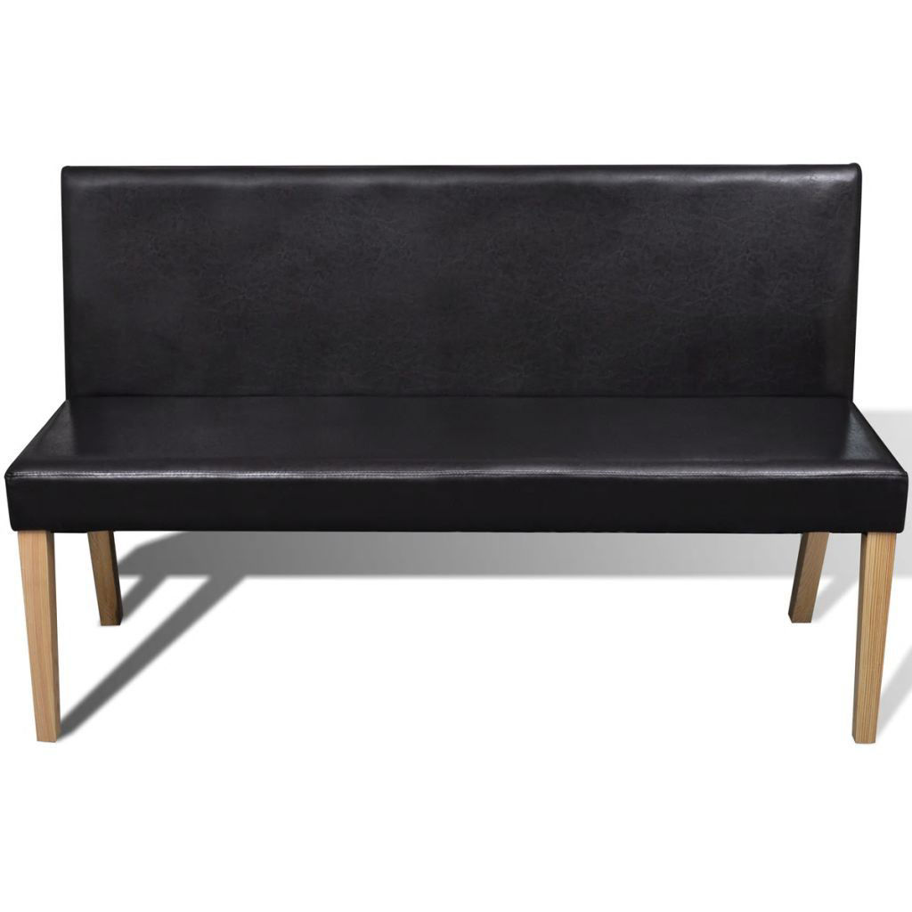 Picture of Sofa Bench Artificial Leather Dark Brown