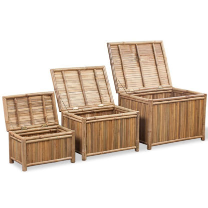 Picture of Storage Boxes 3 Pieces - Bamboo