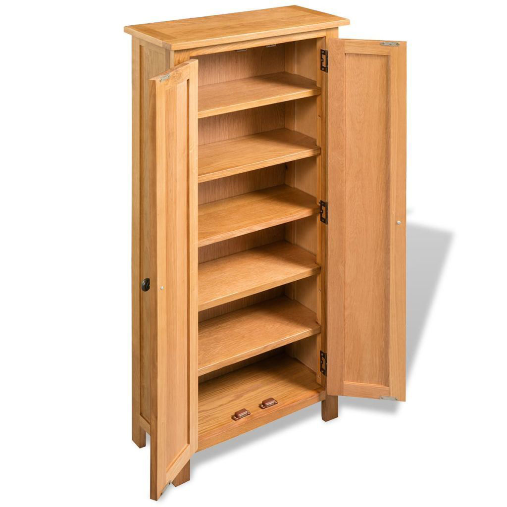 """Picture of Storage Cabinet Solid Oak 19.7""""x8.7""""x48"""""""