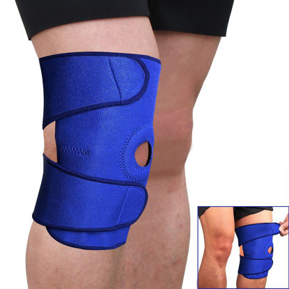 Picture of Support Brace Cap Sleeve Wrap Adjustable for Knee Patella Stabilizer