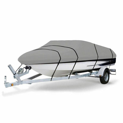 Picture of Trailer Boat Cover 20-22 Ft Heavy Duty Fabric Waterproof V shape
