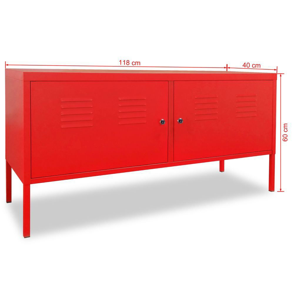 """Picture of TV Cabinet 46"""" - Red"""