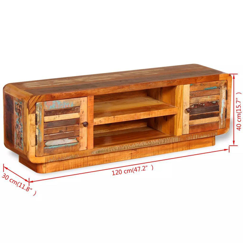 """Picture of TV Cabinet 47"""" - Solid Reclaimed Wood"""