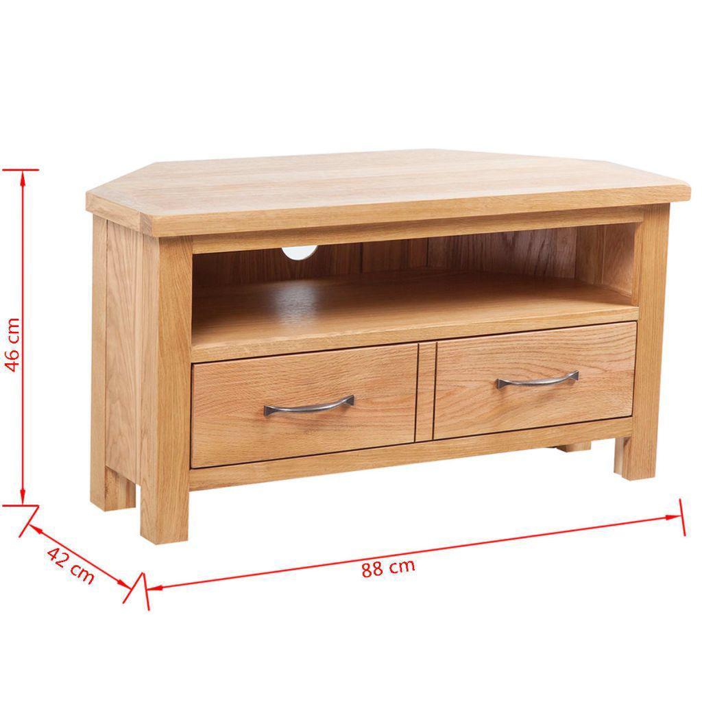 """Picture of TV Cabinet with Drawer 34"""" - Oak"""