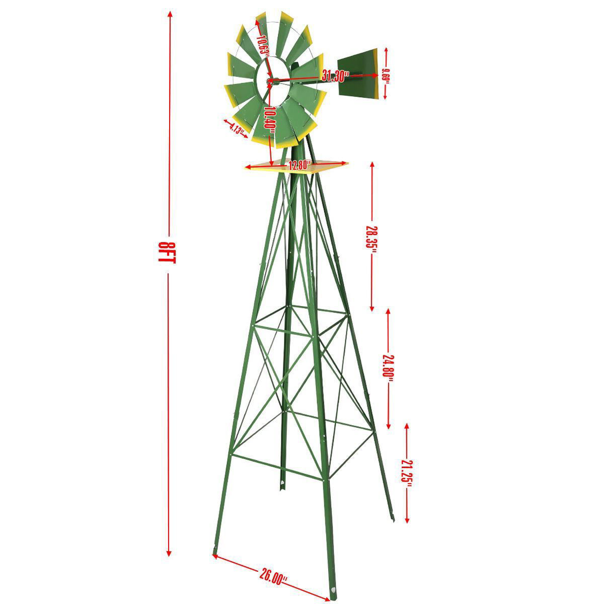 Picture of Windmill Tall Ornamental Weather Vane 8 Ft