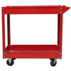 Picture of Workshop Tool Trolley Cart 2 Shelves 220 lbs. Red