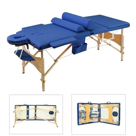 "Picture of Massage Table Portable Facial Bed 84""L - Blue"