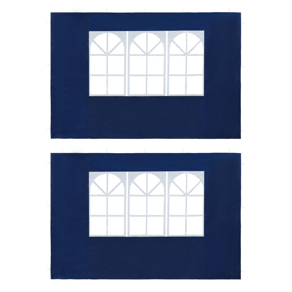 Picture of Outdoor Gazebo Replacement Sidewalls with Window - 2pcs Blue