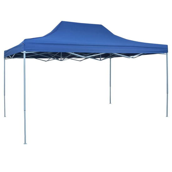 Picture of Outdoor Steel Gazebo Folding Party Tent - Blue
